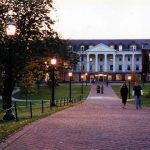 Allegheny College campus at twilight