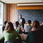 Antioch College students in a classroom
