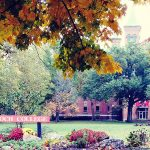 Antioch College campus on a fall day