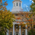 A Lawrence University campus building on a sunny autumn day