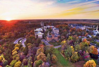 Vibrant fall colors at St. Olaf