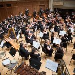 A Lawrence University student orchestra rehearses together