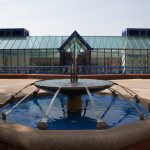 A fountain on the Lawrence University campus