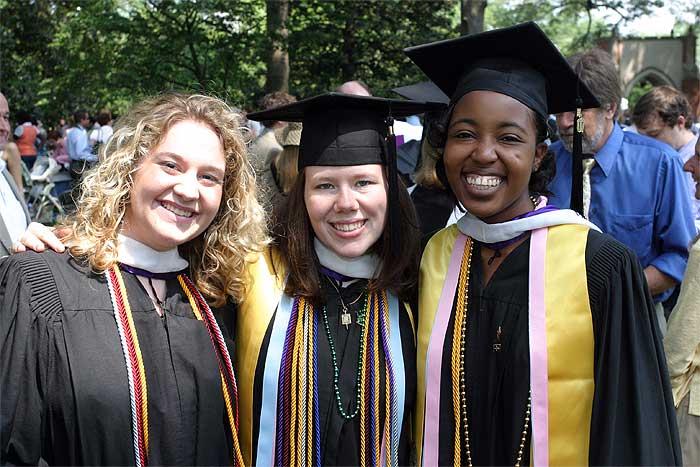 Agnes Scott College students graduate