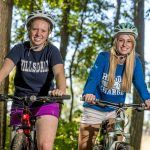 Hillsdale College students cycle across campus
