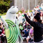 Evergreen's mascot Speedy the Geoduck