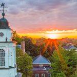 The sun rises over the Wabash campus
