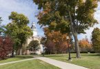 Hillsdale College campus on a fall day