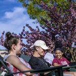 McDaniel students enjoy a spring day.