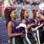 Millsaps cheerleaders at a game