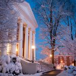 Lynchburg campus in the snow