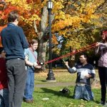 Reed College students conduct experiments together