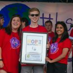 BSC students receive an award for Relay for Life efforts