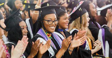 Scotties celebrate during the graduation ceremony.