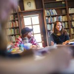Cornell College students have a classroom discussion