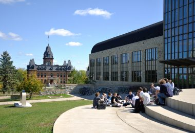 St. Olaf students have class outdoors