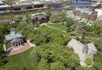 Beloit College campus from above