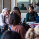 Clark President David Angel teaches a first-year seminar