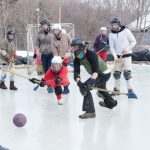 Marlboro students play broomball