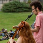 Students playing music at Bard College