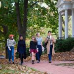 Students walk across the historic Annapolis campus