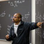 Chemistry professor teaches a class at Kalamazoo College