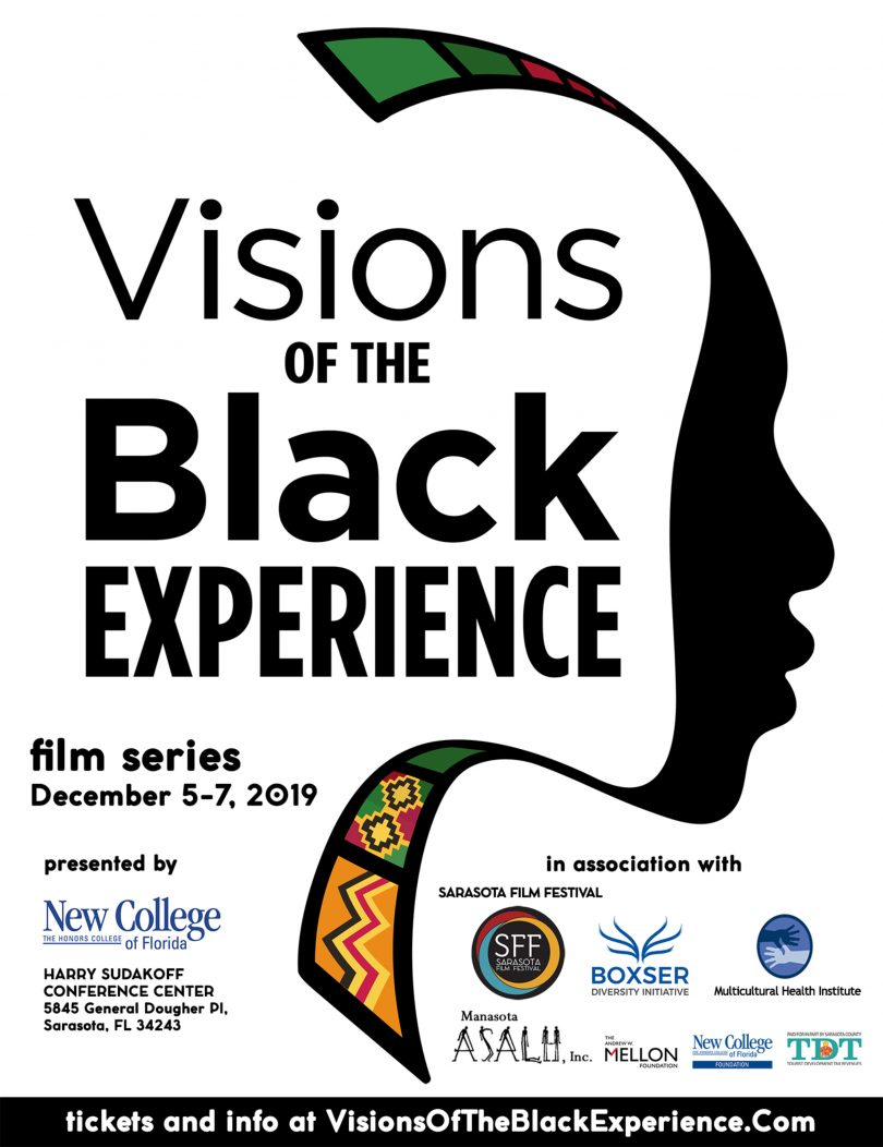 "a poster advertising the ""Visions"" film festival"