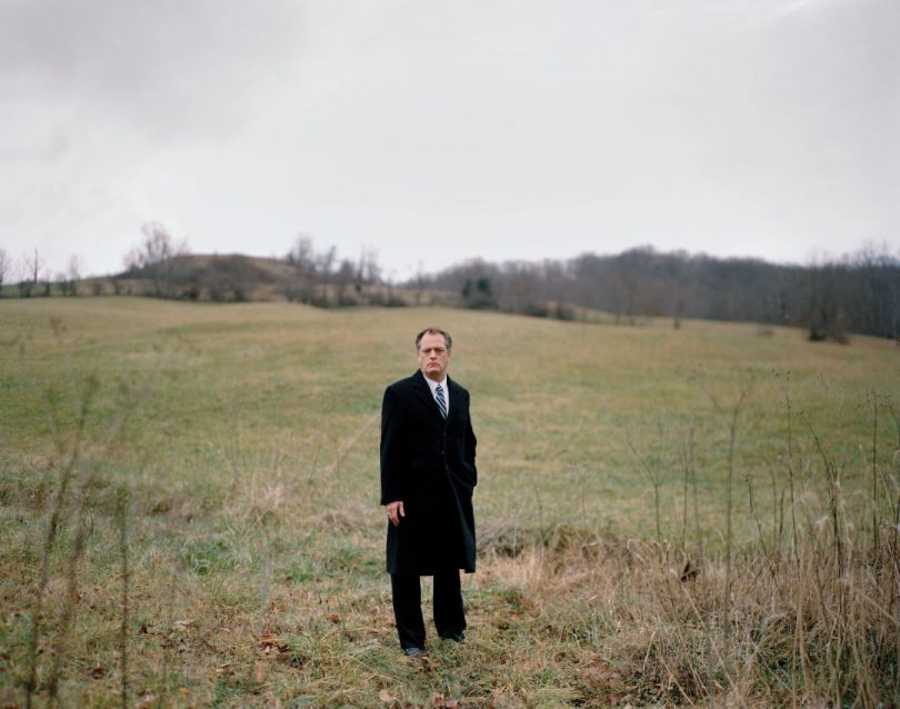 Rob Billott standing in a field