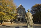A statue on the Rhodes College campus