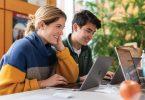 students use laptops