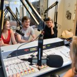 students work in a radio station