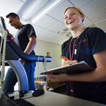 Student conducts research in a health and exercise physiology lab at Ursinus